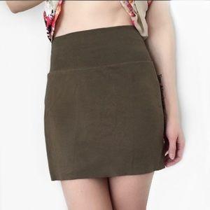 AMERICAN APPAREL Cotton Spandex Jersey Mini Skirt